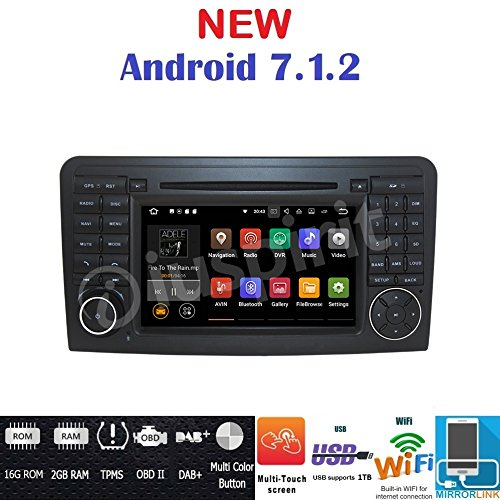 Android 7.1 GPS DVD USB SD Wlan Bluetooth Autoradio 2 Din NAVI Mercedes/Benz R-Klasse W251/R280/R300/R320/R350/R500/R63/AMG 2006 - 2012 R300 Gps