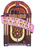 Beistle 57747 Glittered Rock and Roll Luftschlangen Party Deko Jukebox-Ausschnitte One Size Mehrfarbig