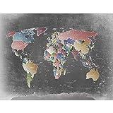 SENSATIONSPREIS Fototapete Weltkarte Bunt Vlies Wand Tapete Wohnzimmer Schlafzimmer Büro Flur Dekoration Wandbilder XXL Moderne Wanddeko - 100% MADE IN GERMANY - Runa Tapeten 9088010a