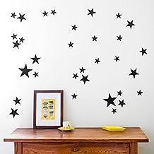 39 unds estrellas negras para dormitorios infantiles salon hall guarderias de OPEN BUY