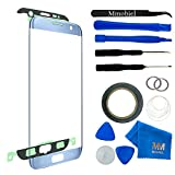 MMOBIEL Front Glas für Samsung Galaxy S7 Edge G935 (Blau) Series Display Touchscreen mit 12 tlg. Werkzeug-Set / PreCut Sticker / Pinzette / Rolle 2mm Klebeband / Saugnapf / Metall Draht / Tuch