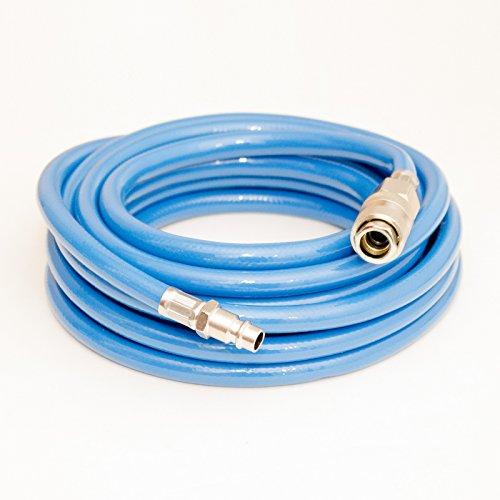 Druckluftschlauch mit Kupplungsmuffe und Kupplungsstecker (PVC, bis 15 bar) (5 m)