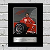 Michael Schumacher Photo dédicacée encadrée Ferrari