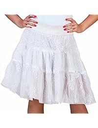 Spitzen Rock für Damen - Ideal auch als Petticoat Unterrock zum Dirndl oder Karnevalskostüm