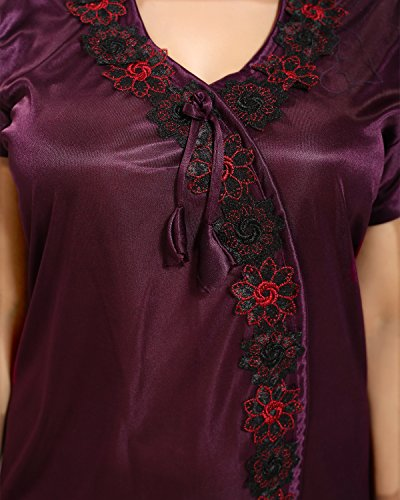 Tucute-Women-Satin-Night-Gown-Wine-Free-Size-DNo1242