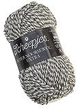 Scheepjes Nevada Sockenwolle melange Super Noorsewol extra Fb. 256, 50g dicke Sockenwolle grau natur meliert (ca. für Nadelstärke 3,5 - 4 mm)