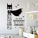 pegatinas de pared Batman Superhero Home Decor Quality para habitaciones infantiles Vivir
