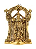 Houzzplus Handicraft Wall Hanging White Metal God Tirupati Balaji ,Sri Venkateswara Idol ,Spiritual Home Decor(17 Cm X 4 Cm X 24.5 Cm, Gold)