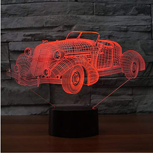 3D Nachtlichter 3D Usb Touch Schalter Leuchte Sportwagen Form Nightlights Fahrzeugmodellierung 7 Farbwechsel Led Schreibtischlampe Kinder Geschenke Dekor
