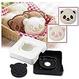 nalmatoionme Cute cocina forma de panda, Sandwich Pan molde cortador eléctrica herramienta accesorios