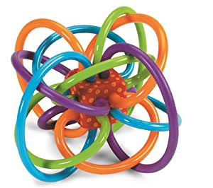 Manhattan Toy Winkel Rattle and Sensory Teether Activity Toy, 12.7 x 8.9 x 10.2 cm