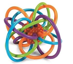 Manhattan Toy Winkel Sonajero y juguete de actividad sensorial mordedor
