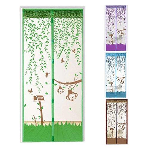 Sukisuki hands-free magnetisch, Bildschirm Tür-Vorhang mit Moskito-Netz, grün, 90cm x 210cm