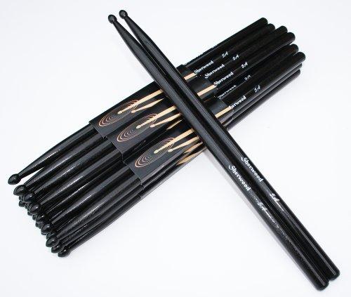 12 Paar Drumsticks 5A Schwarz (24 Stück)