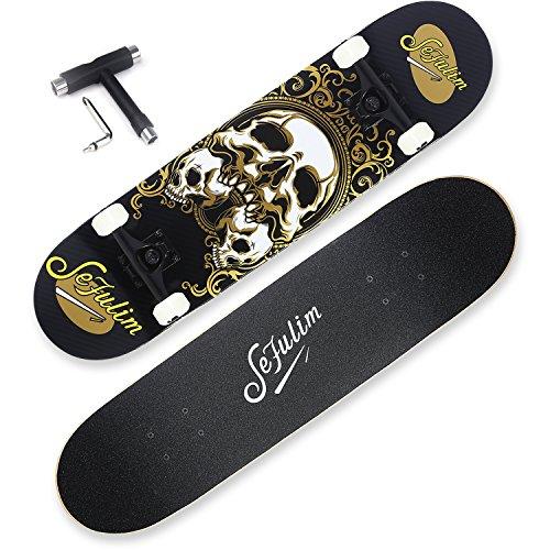 Sefulim Skateboards para Deportes Y Juegos Al Aire Libre Skate Longboard Cruiser Scooter Freestyle