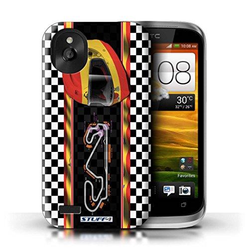 Kobalt® Imprimé Etui / Coque pour HTC Desire X / USA/Austin conception / Série F1 Piste Drapeau Espagne/Catalogne