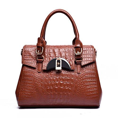 Mefly Neue Leder Handtasche modische Taschen und Beutel brown