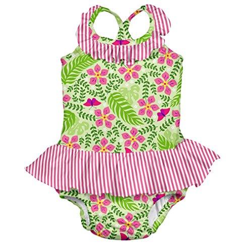 i play. 712159-500-45 Schwimmwindel- Badeanzug mit Rüschen 18-24 Monate, Lime Palm Garden