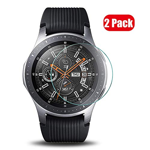 Preisvergleich Produktbild Voviqi Samsung Galaxy Watch 46 mm Panzerglas,  9H verbesserte gehärtetes Glas Folie [Blasenfrei] [Anti-Fingerabdruck] Displayschutzfolie für Samsung Galaxy Watch 46 mm,  2 Stück