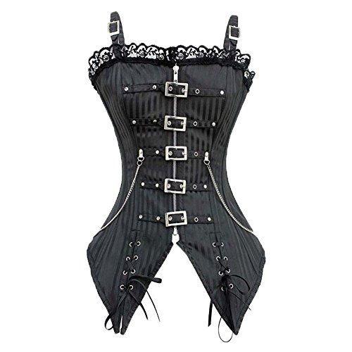 Beauty-You Damen Corsage Korsett Bustier Gothic Steampunk Top -
