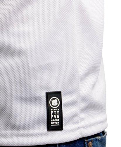 CROSSHATCH Herren T-Shirt Blacknight Weiß