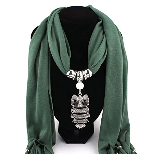 feitong-women-necklace-scarves-owl-pendant-jewelry-tassels-scarf-shawl-wrap-green