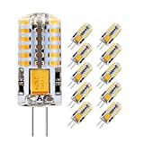Lampadina LED G4 3.5W, Bianco Caldo 3000K, Equivalente a 30W Lampada Alogena, 300LM, AC/DC 12V, Angolo di visione 360°, Confezione da 10 by Jpodream