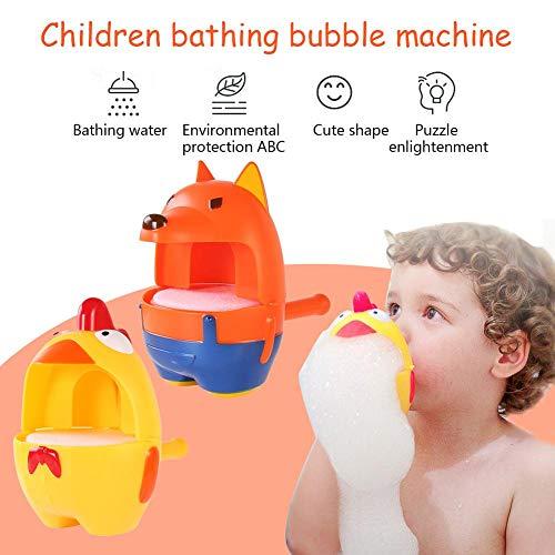 HELING Baby Bath Bubble Toy - Kinder Baden Bubble Machine Fox Chick Blasen Schaumbad Spielen im Freien Wasser Spielzeug Happy Tub Time (Super Bubble Bath)