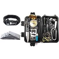 Kit de supervivencia de emergencia KIICN | Juego portátil de herramientas múltiples con caja de regalo