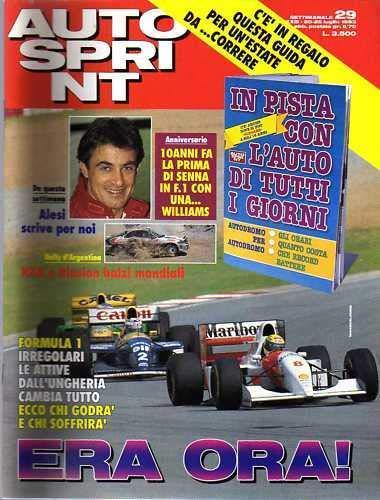 Autosprint Auto Sprint 29 del Luglio 1993 Alesi Biasion Senna