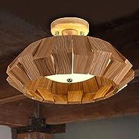 BBSLT Lampada da soffitto di camera da letto tinta legno studio americano ha condotto l'atmosfera rurale di lampade soggiorno e ristorante creativo illuminazione 380 * 230mm