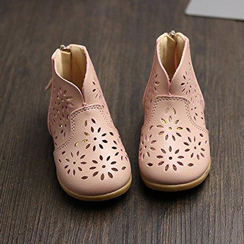 Longra Le scarpe delle nappe respirabili delle principesse delle ragazze Rosa