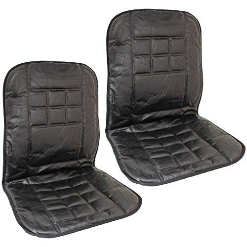 Hardcastle Coprisedile anteriore per auto in vera pelle - Schienale massaggiante - Coppia
