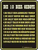 Rahmenlos® Fun Schild - Die 10 Bier Gebote