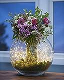 Topfashion - 2guirlandes de lumières submersibles 20LED pour pot de fleurs - Guirlandes lumineuses - Style féérie de bougies - Fil de cuivre de 2,1m - Couleur: blanc chaud