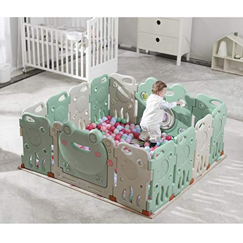 LIUFS-Playpens Children's Indoor Play Fence Crawling Fence Home Safety Playground (Size : 16+2 Fence+crawling mat)  LIUFS-Playpens