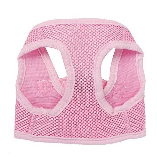 DealMux Nylon Haustier Hund Adjustable Side Release Schnalle Mesh-Harness Vest, X-Small, Rosa -