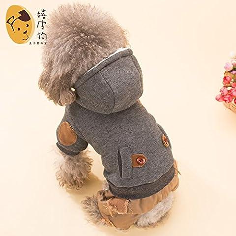 YU-K Cani abbigliamento abbigliamento piccolo cane mezzo abbigliamento abbigliamento cane cane grande vestiti tempo libero il cappuccio blu , serie L