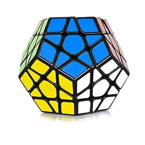 Maomaoyu Megaminx 3×5 Dodecaedro Speed Cube Cubo Magico(Negro)