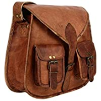 🎁 Handgefertigte Leder Frauen Handtasche Umhängetasche Crossbody Satchel Damen Tote Reise Geldbörse aus echtem Leder 10 x 13 Zoll | Mit kostenlosem Versand