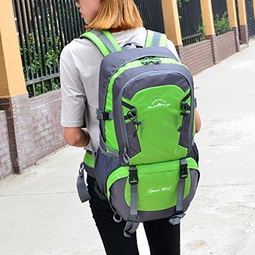 LQABW Outdoor-Schulter-Climbing-Reisen Männer Und Frauen Sport Und Freizeit Paket-wasserdicht Computer-Studenten-Tasche Green