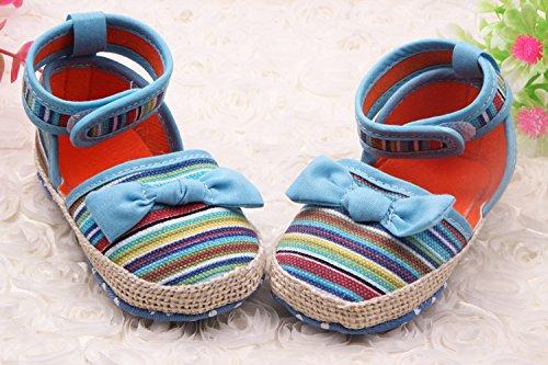 Bigood Liebe Krabbelschuhe Baby Baumwolle Mädchen Schuh Lauflernschuhe Blau