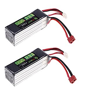 Andoer® Original Lion Power Lipo Battery 22.2V 1300Mah 30C MAX 45C T Plug for Align TREX 450 450L RC Helicopter Car Airplane Battery