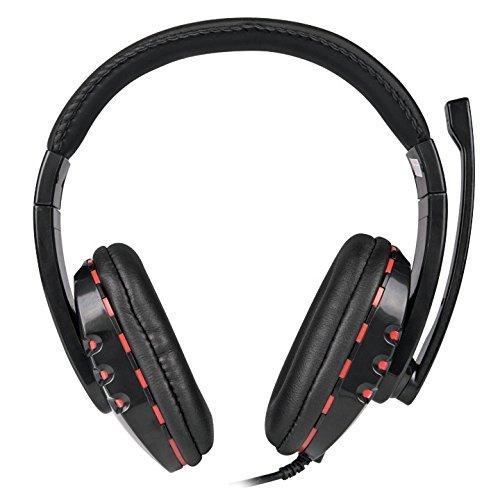 Preisvergleich Produktbild Combusters CO-H8311 Gaming Headset schwarz rot - 2x 3, 5mm Klinke Klinkenstecker Pc Computer Gamer Spiele Kopfhörer Mikrofon