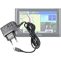 DURAGADGET Cargador con Enchufe Europeo Y Conexión Mini USB para GPS Garmin Nüvi 66LMT / 2699LMT-D / 56LMT / 2589LMT EU