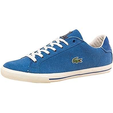 386123e50e6e64 Image Unavailable. Image not available for. Colour  Graduate Blue White Blue  White Lacoste Mens Graduate Canvas Vulc Trainers ...