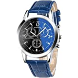 Toamen Moda De Lujo Faux Leather Relojes De Cuarzo para Hombre