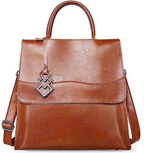 Xinmaoyuan Borse donna borsette in cuoio locomotore pacchetto Borsetta in pelle borsa a tracolla messenger capacità grande borsa da donna Brown