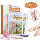 Janolia Fußmaske, 2 Paar Hornhaut Socken, Fuß Peeling Maske, Hornhaut und abgestorbene Haut entfernen, Lavendel & Rose, für Frauen und Männer