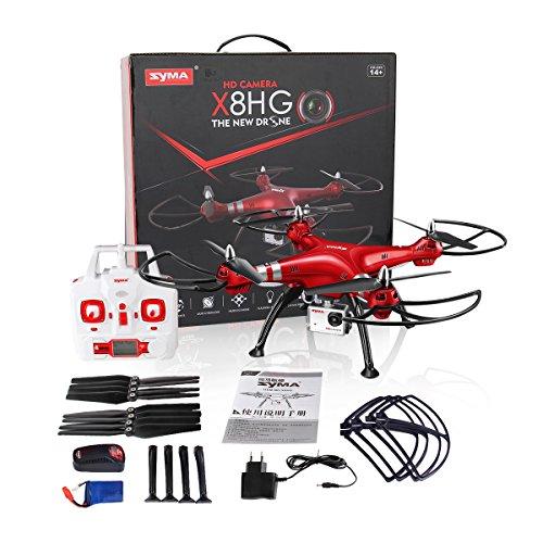 Syma X8HG (Upgrade Syma X8G) 2,4 GHz 6-Achsen-Gyro RC Ferngesteuerte Quadcopter Drone Quadrocopter Drohne mit 8MP HD-Kamera Einen Höhenstabilisator-Rote - 7
